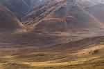Rangers on horseback patrolling reserve, Sarychat-Ertash Strict Nature Reserve, Tien Shan Mountains, eastern Kyrgyzstan