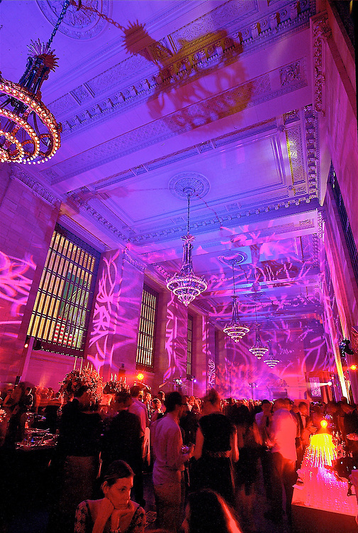 Movie premiere gala party at Vanderbilt Hall, Grand Central Station