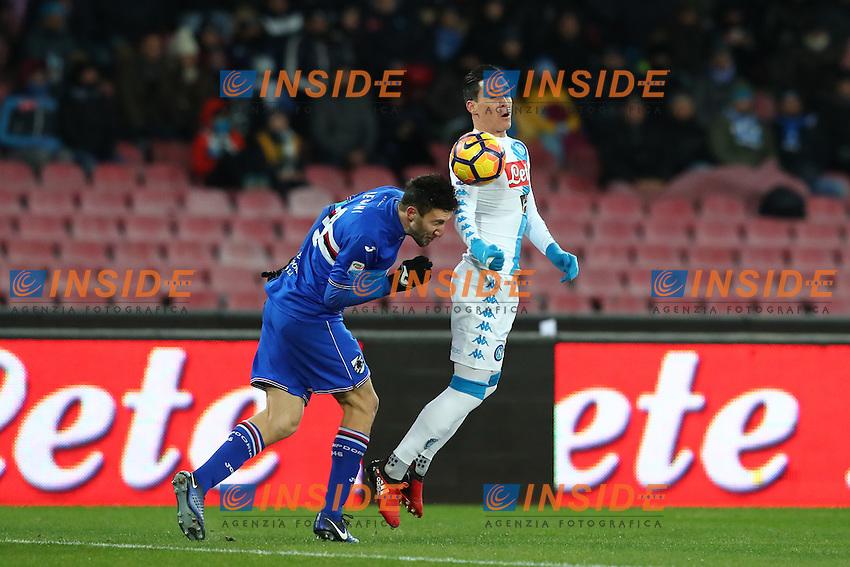 Jose Maria Callejon Napoli<br /> Napoli 07-01-2017  Stadio San Paolo <br /> Football Campionato Serie A 2016/2017 <br /> Napoli - Sampdoria<br /> Foto Cesare Purini / Insidefoto