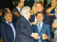 Crystal palace chairman Steve Parish (right) and Mark Bright during the Premier League match between Crystal Palace and Everton at Selhurst Park, London, England on 10 August 2019. Photo by Andrew Aleksiejczuk / PRiME Media Images.