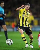 FUSSBALL   CHAMPIONS LEAGUE   SAISON 2012/2013   GRUPPENPHASE   Borussia Dortmund - Ajax Amsterdam                            18.09.2012 Robert Lewandowski (Borussia Dortmund) Einzelaktion am Ball