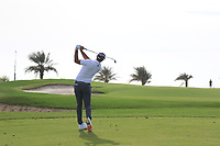 Dustin Johnson (USA) on the 15th during Round 3 of the Saudi International at the Royal Greens Golf and Country Club, King Abdullah Economic City, Saudi Arabia. 01/02/2020<br /> Picture: Golffile | Thos Caffrey<br /> <br /> <br /> All photo usage must carry mandatory copyright credit (© Golffile | Thos Caffrey)