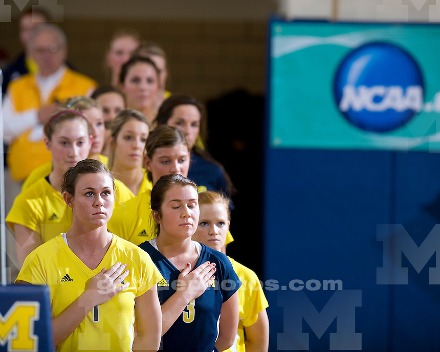 University of Michigan Volleyball vs Ohio U (NCAA Tournament Second Round) on 12/05/2009 in Ann Arbor, MI at (Cliff Keen Arena).