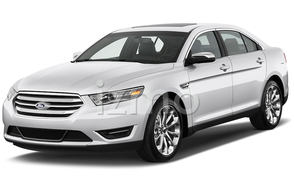 Front three quarter view of a 2013 Ford Taurus LTD