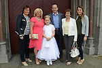 24/05/2015 – St. Mary's Communion – Aoife Farrell with her parents Martina and Eamonn, grandmother Breda Farrell, Aunt Mona and cousin Mary.