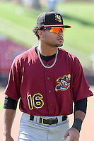 Quad Cities River Bandits outfielder Jason Martin (16) prior to a Midwest League game against the Wisconsin Timber Rattlers on July 17th, 2015 at Fox Cities Stadium in Appleton, Wisconsin. Quad Cities defeated Wisconsin 4-2. (Brad Krause/Four Seam Images)