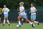 11 October 2007: North Carolina's Allie Long (33). The University of North Carolina Tar Heels defeated the Duke University Blue Devils 2-1 at Fetzer Field in Chapel Hill, North Carolina in an Atlantic Coast Conference NCAA Division I Women's Soccer game.