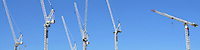 Cranes fill the skyline at the site of the Gold Coast Hospital being built on Olsen Avenue at Southport (photo taken August 2010).