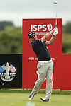 European Ryder Cup captain Paul McGinley drives at the 8th during the second round of the ISPS Handa Wales Open 2013 at the Celtic Manor Resort<br /> <br /> 30.08.13<br /> <br /> ©Steve Pope-Sportingwales