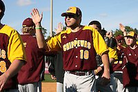 March 7, 2010:  Scott Phillion (10) of the Central Michigan Chippewas during game at Jay Bergman Field in Orlando, FL.  Central Michigan defeated Central Florida by the score of 7-4.  Photo By Mike Janes/Four Seam Images