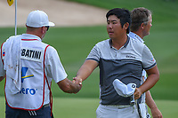 Byeong Hun An (KOR) shakes hands following day 3 of the Valero Texas Open, at the TPC San Antonio Oaks Course, San Antonio, Texas, USA. 4/6/2019.<br /> Picture: Golffile | Ken Murray<br /> <br /> <br /> All photo usage must carry mandatory copyright credit (© Golffile | Ken Murray)