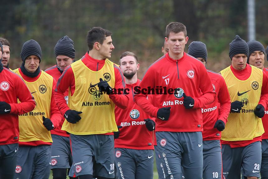 Jan Rosenthal, Johannes Flum, Marc Stendera, Alexander Madlung (Eintracht) - Eintracht Frankfurt Training, Commerzbank Arena