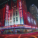 Backdrop featuring Broadway Radio City Music Hall, night life, 5th Ave New York sidewalk and city lights