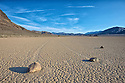 The mysterious sailing stones of the Racetrack Playa in Death Valley National Park, California.