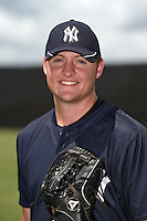 GCL Yankees 2 pitcher Jordan Foley (18) poses for a photo after a game against the GCL Braves on June 23, 2014 at the Yankees Minor League Complex in Tampa, Florida.  GCL Yankees 2 defeated the GCL Braves 12-4.  (Mike Janes/Four Seam Images)