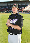 June 30th 2007:  Trevor Crowe of the Akron Aeros poses for a photo in the outfield before a game vs the Erie Seawolves in Eastern League baseball action.  Photo copyright Mike Janes Photography 2007.