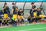 BLOEMENDAAL -  Teleurstelling bij Den Bosch  na de verloren  hoofdklasse competitiewedstrijd hockey heren,  Bloemendaal-Den Bosch (2-1)   COPYRIGHT KOEN SUYK