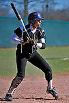 15 April 2009: University at Albany Great Danes infielder Andrianna Walraven, a Sophomore from Thompson Ridge, NY, in action against the University of Vermont Catamounts at Archie Post Field in Burlington, Vermont. The Great Danes swept the Catamounts 2-0 and 12-0 in the afternoon double-header. Mandatory Photo Credit: Ed Wolfstein Photo