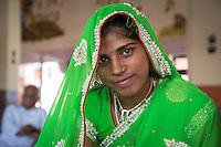 Beautiful Rajasthan woman in Sawai Madhopur near Ranthambhore Tiger Reserve in Rajasthan, India