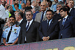 League Santander 2017/2018. Game: 01.<br /> FC Barcelona vs Real Betis: 2-0.<br /> Josep Lluis Trapero, Joaquim Forn &amp; Josep M. Bartomeu.