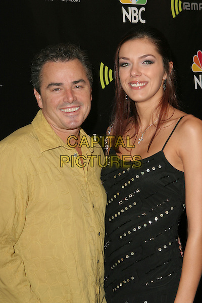 CHRISTOPHER KNIGHT & ADRIENNE CURRY.2005 Radio Music Awards - Arrivals held at the Aladdin Hotel, Las Vegas, Nevada..December 19th, 2005.Photo: Zach Lipp/AdMedia/Capital Pictures.Ref: ZL/ADM.half length black yellow.www.capitalpictures.com.sales@capitalpictures.com.© Capital Pictures.