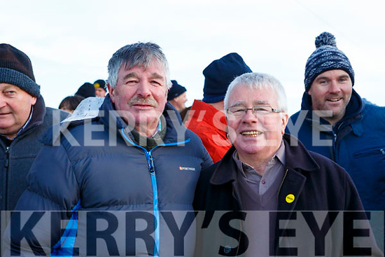Jimmy and Martin Bracken O'Regan enjoying their day out at Kingdom Cup, in the Ballybeggan coursing meeting.