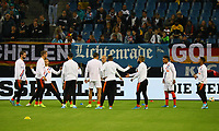 Niederländische Mannschaft macht sich warm - 06.09.2019: Deutschland vs. Niederlande, Volksparkstadion Hamburg, EM-Qualifikation DISCLAIMER: DFB regulations prohibit any use of photographs as image sequences and/or quasi-video.