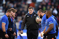 Stuart Hooper of Bath Rugby looks on during the pre-match warm-up. European Rugby Champions Cup match, between RC Toulon and Bath Rugby on December 9, 2017 at the Stade Mayol in Toulon, France. Photo by: Patrick Khachfe / Onside Images