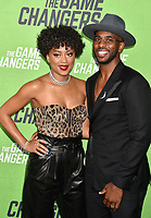 "HOLLYWOOD, CA - SEPTEMBER 04: Jada Crawley and Chris Paul attend the LA Premiere Of ""The Game Changers"" at ArcLight Hollywood on September 04, 2019 in Hollywood, California.<br /> CAP/ROT/TM<br /> ©TM/ROT/Capital Pictures"