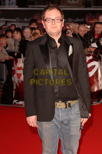 "ALAN CARR.Arriving at the 2007 ""Brit Awards"" at Earls Court, London, England, 14th February 2007..half length .CAP/FIN.©Steve Finn/Capital Pictures."