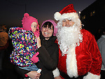 Aoibheann Maree and Joeleine Donnelly pictured at the Clogherhead Christmas fair. Photo: Colin Bell/pressphotos.ie