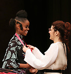 Denee Benton and Marisa Tomei on stage at the The Lilly Awards  at Playwrights Horizons on May 22, 2017 in New York City.