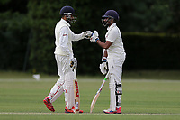 N Jacobs and A Raji of Ilford during Brentwood CC vs Ilford CC, Shepherd Neame Essex League Cricket at The Old County Ground on 8th June 2019