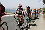 The peloton including World Champion Peter Sagan (SVK) Bora-Hansgohe leave the coast after the start of Stage 4 of the La Vuelta 2018, running 162km from Velez-Malaga to Alfacar, Sierra de la Alfaguara, Andalucia, Spain. 28th August 2018.<br /> Picture: Colin Flockton   Cyclefile<br /> <br /> <br /> All photos usage must carry mandatory copyright credit (&copy; Cyclefile   Colin Flockton)