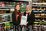 Byrnes Spa Caherslea received the Top of Tree Best Off Licence Award. L to r: Deirdre Fitzgibbon (Manager) and Megan Enright.