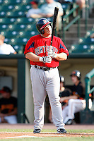 July 22, 2009:  Paul McAnulty of the Pawtucket Red Sox during a game at Frontier Field in Rochester, NY.  Pawtucket is the Triple-A International League affiliate of the Boston Red Sox.  Photo By Mike Janes/Four Seam Images