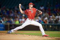 David Luethje (17) of Vero Beach High School in Vero Beach, Florida delivers a pitch during the Under Armour All-American Game presented by Baseball Factory on July 29, 2017 at Wrigley Field in Chicago, Illinois.  (Mike Janes/Four Seam Images)