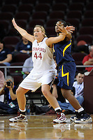 LOS ANGELES, CA - MARCH 13:  Joslyn Tinkle during Stanford's 64-44 win over California in the Pac-10 Tournament at the Staples Center on March 13, 2010 in Los Angeles, California.