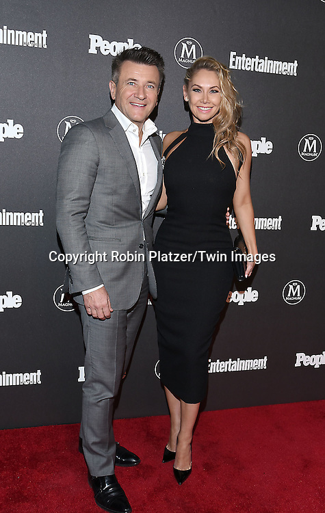 Robert Herjavec and Kym Johnson attend the Entertainment Weekly &amp; PEOPLE Magazine New York Upfronts Celebration on May 16, 2016 at Cedar Lake in New York, New York, USA.<br /> <br /> photo by Robin Platzer/Twin Images<br />  <br /> phone number 212-935-0770