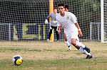 Palos Verdes, CA 01/22/13 - Joseph Bruno (Peninsula #3) in action during the West vs Peninsula boys varsity soccer game at Peninsula High School.