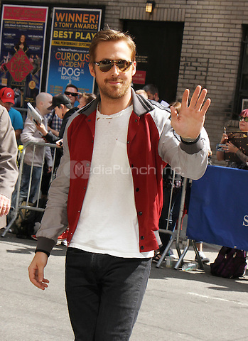 NEW YORK, NY-May 12: Ryan Gosling at The Late Show with Stephen Colbert to talk his new movie The Nice Guys in New York. NY May 12, 2016. Credit:RW/MediaPunch