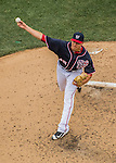 29 May 2016: Washington Nationals pitcher Blake Treinen on the mound against the St. Louis Cardinals at Nationals Park in Washington, DC. The Nationals defeated the Cardinals 10-2 to split their 4-game series. Mandatory Credit: Ed Wolfstein Photo *** RAW (NEF) Image File Available ***