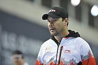 SPEED SKATING: SALT LAKE CITY: 19-11-2015, Utah Olympic Oval, ISU World Cup, training, Kevin Crockett (trainer/coach Team CAN), ©foto Martin de Jong