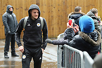 Leicester City's Jamie Vardy arrives at Turf Moor ahead of kick-off<br /> <br /> Photographer Rich Linley/CameraSport<br /> <br /> The Premier League - Burnley v Leicester City - Saturday 16th March 2019 - Turf Moor - Burnley<br /> <br /> World Copyright © 2019 CameraSport. All rights reserved. 43 Linden Ave. Countesthorpe. Leicester. England. LE8 5PG - Tel: +44 (0) 116 277 4147 - admin@camerasport.com - www.camerasport.com