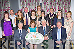 Celebrating the Millstreet Pipers band 60th anniversary in the Dromhall Hotel Killarney on Saturday night was front row l-r: Tim O'Shea, Marie Twomey, Brendan O'Sullivan, Liam Coffey. Back row: Deirdre McAulliffe, Edmond Coffey, Siobhain Guerin, Teddy Herlihy, Mairead McCarthy, Theresa Cleary, Gillian McCarthy, Ann Buckley, Miriam O'Sullivan and Joanne Goold..