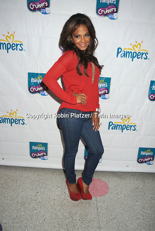 Christina Milian attends the Pampers unveils improved cruisers diapers on ..September 21, 2011 at Dylan's Candy Bar in New York City.