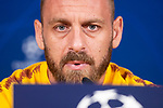 Daniele De Rossi of Roma during press conference the day before Champions League match between Real Madrid and Roma at Santiago Bernabeu Stadium in Madrid, Spain. September 18, 2018. (ALTERPHOTOS/Borja B.Hojas)