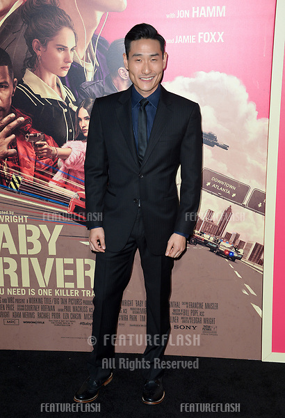 Lenny Joon at the Los Angeles premiere for &quot;Baby Driver&quot; at the Ace Hotel Downtown. <br /> Los Angeles, USA 14 June  2017<br /> Picture: Paul Smith/Featureflash/SilverHub 0208 004 5359 sales@silverhubmedia.com
