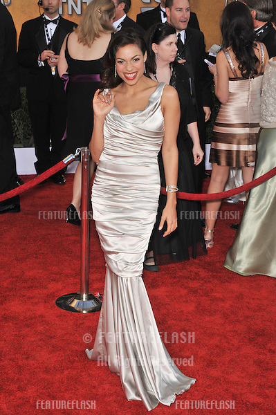 Rosario Dawson at the 15th Annual Screen Actors Guild Awards at the Shrine Auditorium, Los Angeles..January 25, 2009 Los Angeles, CA.Picture: Paul Smith / Featureflash