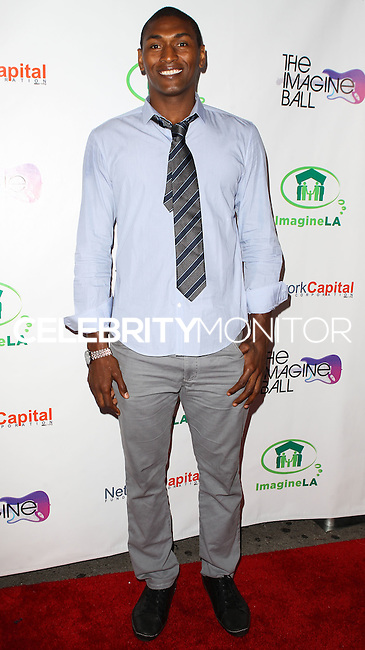WEST HOLLYWOOD, CA, USA - AUGUST 06: Metta World Peace, Ron Artest at The Imagine Ball Presented By John Terzian & Randall Kaplan Benefiting Imagine LA held at the House of Blues Sunset Strip on August 6, 2014 in West Hollywood, California, United States. (Photo by Celebrity Monitor)